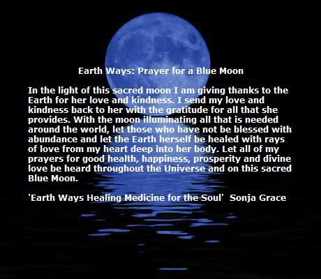 Earth Ways Prayer for a Blue Moon