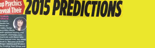 Sonja Grace: National Enquirer 2015 Predictions