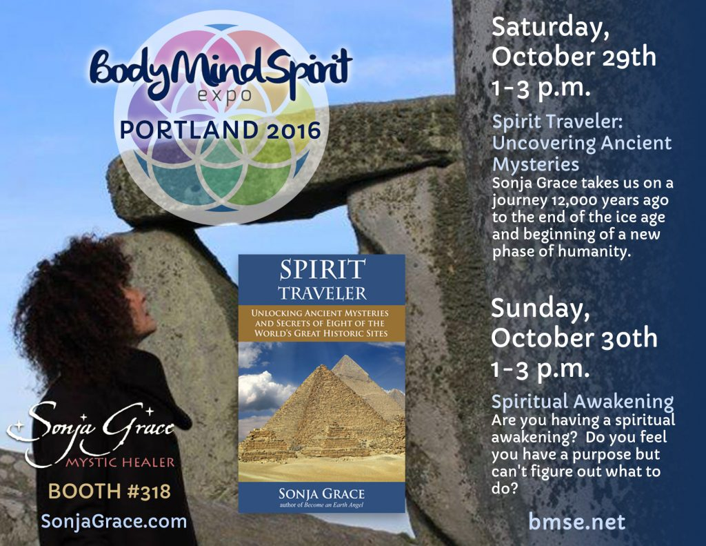 Sonja Grace at Body Mind Spirit Expo in Portland OR October 29-30