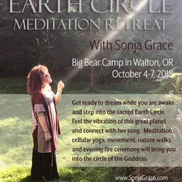 Earth Circle Meditation Retreat with Sonja Grace, Oct 4-7, 2018