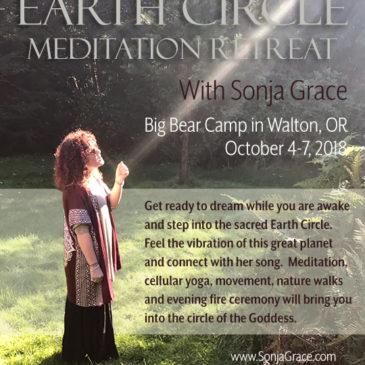 Earth Circle Meditation Retreat with Sonja Grace, Oct 4-7, 2018